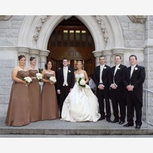 The Bridal Party Outside the Church